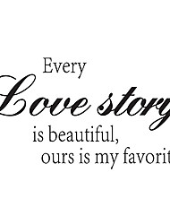 Fashion Every Love Story Is Beautiful Ours Is My Favorite Wall Stickers Living Room Wall Decals