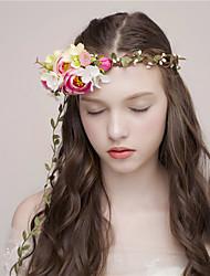 MISS DIVA  Women's Tulle Headpiece Headbands 1 Piece Pink Flower 54.5