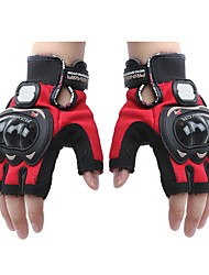 de malla de cuero guantes de carreras de motos dedo medio de la motocicleta (1 par)