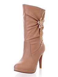 Women's Shoes Winter Platform / Fashion Boots Boots Party & Evening / Dress Stiletto Heel Sparkling Glitter / Slip-on