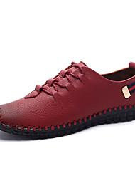Femme-Décontracté-Noir / Rouge / Orange-Talon Plat-Confort-Sneakers-Polyuréthane
