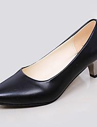 Damen-High Heels-Lässig-PU-StöckelabsatzSchwarz Rot Weiß Beige