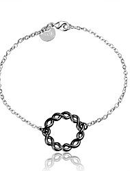 2016 Simple  925 Sterling Silver Black Luxury Specially Bracelets For Women