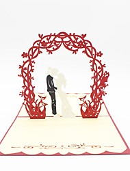 Paper Craft 3D Pop-up Greeting Card For Wedding