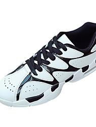 Da donna-Sneakers-Sportivo-Comoda-Piatto-PU (Poliuretano)-Nero / Rosso / Bianco