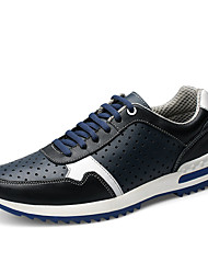 Plus Size Four Seasons Men's Genuine Leather Breathable Cushioning Running Shoes for Casual Style for Outdoor Sports