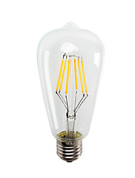 HRY ST64 6W E27 550LM LED Filament Light Vintage LED Edison Bulbs Energy Saving 6W LED- 60W Equivalent(AC220-240V)