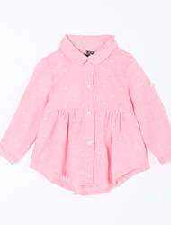 Baby Casual/Daily Solid Blouse-Cotton-Fall-Pink