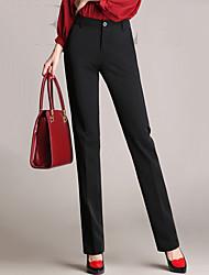 Pantalon Aux femmes Costume simple Polyester Micro-élastique