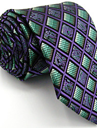 Men's Multicolor Checked Necktie Tie 100% Silk Business Dress Casual Long