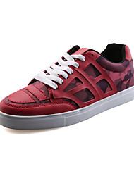 Da uomo-Sneakers-CasualPiatto-PU (Poliuretano)-Nero Blu Rosso