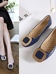 Women's Flats Spring Summer Fall Flats Patent Leather Casual Flat Heel Others Black Blue Pink Others