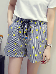 Women's Print Red / Yellow Shorts Pants,Simple