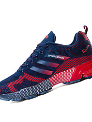 Herren-Sneaker-Sportlich-Tüll PU-Flacher AbsatzSchwarz Blau Rot Schwarz und Rot