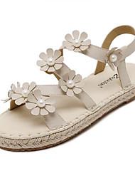 Damen-Sandalen-Outddor-Kunstleder-Flacher Absatz-Sandalen-Weiß