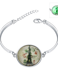 Lureme® New Magical Glow in The Dark 925 Sterling Silver The Eiffel Tower Luminous Charm Bracelets