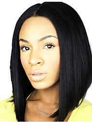 EVAWIGS 10-26 Inch Short Straight Wigs Bob wigs 100% Human Hair Lace Front Wigs Natural Black Color 130% Density