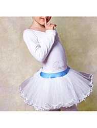 Ballet Dresses Children's Training Cotton Lace 1 Piece Long Sleeve Natural DressSuitable