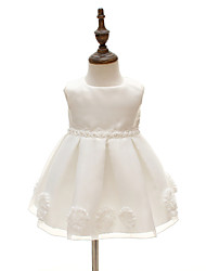 Baby Party/Cocktail Floral Dress,Polyester All Seasons White