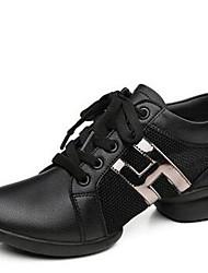 Chaussures de danse(Noir / Blanc) -Non Personnalisables-Talon Bas-Synthétique-Moderne