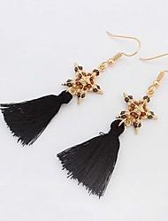 Bohemian Style Colorful Beads Star Tassel Dangle Earrings For Women Luxury Long Drop Earring Jewelry boucle d'oreille