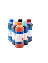 bro ciss encre 500ml, un paquet de 6boxes, box chaque différentes couleurs, noir, rouge, jaune, bleu, rouge clair, bleu clair