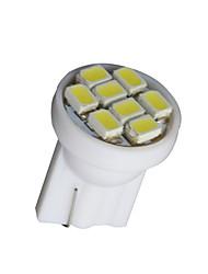 20 шт чистый белый T10 клин 8-SMD W5W 168 194 2825 175 Светодиодное внутреннее лампочки