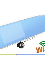 e5 rétroviseur voiture enregistreur double lentille HD 5 pouces voiture android navigation inverser trois en un