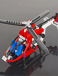 Assembled Helicopter 3336 Small Particles Of Plastic Toy Bricks Assembled Toy Airplane Model