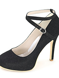 Women's Shoes Glitter Spring / Summer / Fall Round Toe Heels Wedding / Party & Evening / Dress