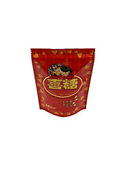 Red Color, Plastic Material, Packaging & Shipping Ziplock Bags, A Pack of Five
