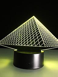 pirâmide toque escurecimento 3D conduziu a luz da noite 7colorful decoração atmosfera lâmpada de iluminação novidade luz de Natal