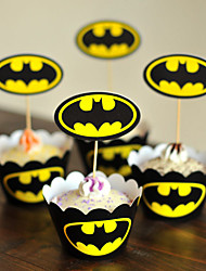 Birthday Party Favors & Gifts-2Piece/Set Cake Accessories Tag Metal Classic Theme Other Non-personalised Yellow