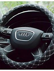 bordado volante de couro tampa da roda ambiental odor não-tóxico e não irritante antiderrapante