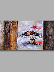 Stretched (Ready to hang) Hand-Painted Oil Painting 100cmx50cm Canvas Wall Art Modern Abstract Brown Red