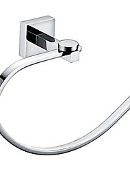 mur de chrome anneau de serviette en laiton monté accessoires porte-serviettes de bain