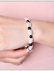 White Gem Stone Strand Bracelet