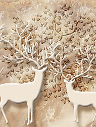 JAMMORY 3XL(14'7''*9'2'')3D Wallpaper For Home Contemporary Wall Covering Canvas Material Cartoon Deer