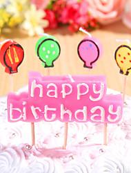 partido decoración de velas de cumpleaños de ajuste (5 piezas) feliz cumpleaños pequeñas velas