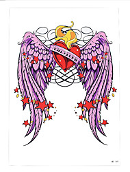 1pc Beauty Women Flower Arm Body Art Tattoo Pink Angel Heart Wing Design Temporary Tattoo Sticker HB-149