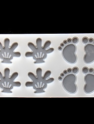 Silicone Feet Palm Shape Chocolate Mold Child's Cake Chocolate Plugin Mould Baking Accessories Cake Decorating