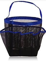 8 malha banheiro grade saco de lavagem saco de armazenamento pendurado