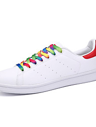 Women's Sneakers Summer Leather Casual Flat Heel Lace-up Black Green Red