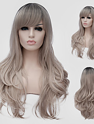 ash cabelo ondulado loiro eo vento nightclub cor performances de rua milhões com uma peruca parcial.