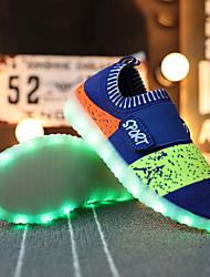 Para Meninos-Tênis-Conforto Light Up Shoes-Rasteiro-Rosa Preto e Vermelho Azul Real-Tule-Casual