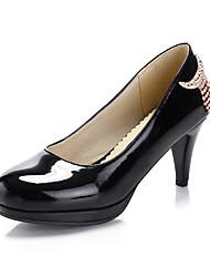 Women's Heels Fall / Winter Heels PU Dress / Casual Low Heel Others Black / Pink / Beige Walking