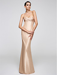 Mermaid / Trumpet Sweetheart Floor Length Taffeta Formal Evening Dress with Side Draping by TS Couture®
