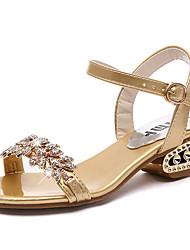 Mujer-Tacón Robusto-Confort-Sandalias-Vestido / Casual-Purpurina-Plata / Oro