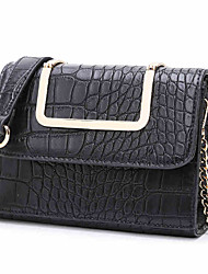 Women PU Crocodile Casual Outdoor Shopping Tote Square Package Shoulder Bag