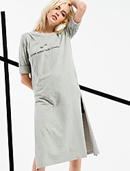 ARNE® Femme Col Arrondi Manches 1/2 Midi Robes-6213